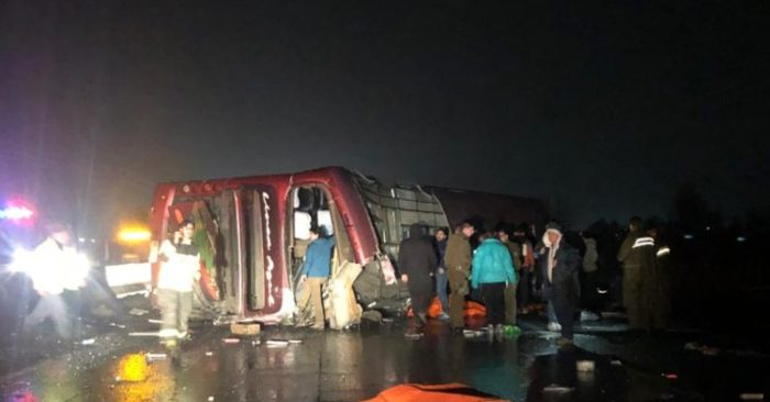 Accidente de autobús en Chile