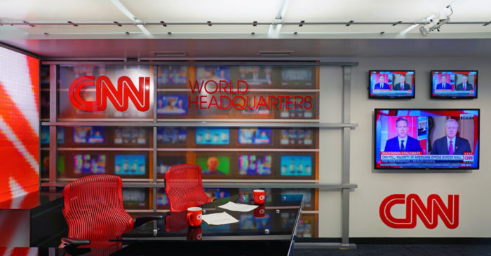 CNN Center, la sede de la red de noticias CNN ubicada en el centro de Atlanta, Georgia, Estados Unidos. (EQRoy / Shutterstock.com)
